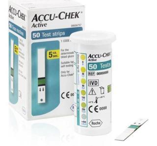 Hộp 50 que thử đường huyết tiểu đường Accu-Chek Active dùng cho máy Roche Đức thumbnail