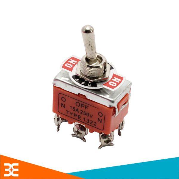 Bảng giá Công Tắc Gạt Đảo Chiều Động Cơ 1322 6 Chân 250VAC-15A