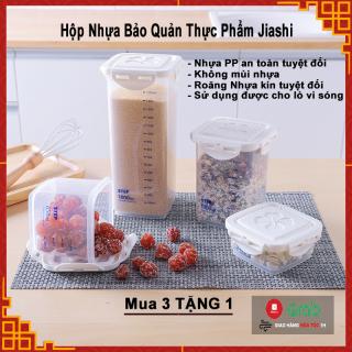 Hộp Nhựa Bảo Quản Thực Phẩm Jiashi 240 650 1000 1800ml, Hộp Bảo Quản Thực Phẩm Bằng Nhựa PP An Toàn Sức Khỏe, Không Mùi Nhựa, Sử Dụng Được Lò Vi Sóng thumbnail