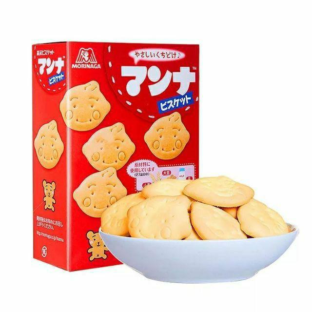 Bánh quy hình thú ăn dặm morinaga cho bé từ 7m hàng Nhật Bản