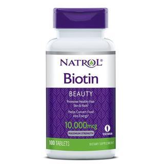 Viên uống mọc tóc Natrol Biotin 100 viên thumbnail