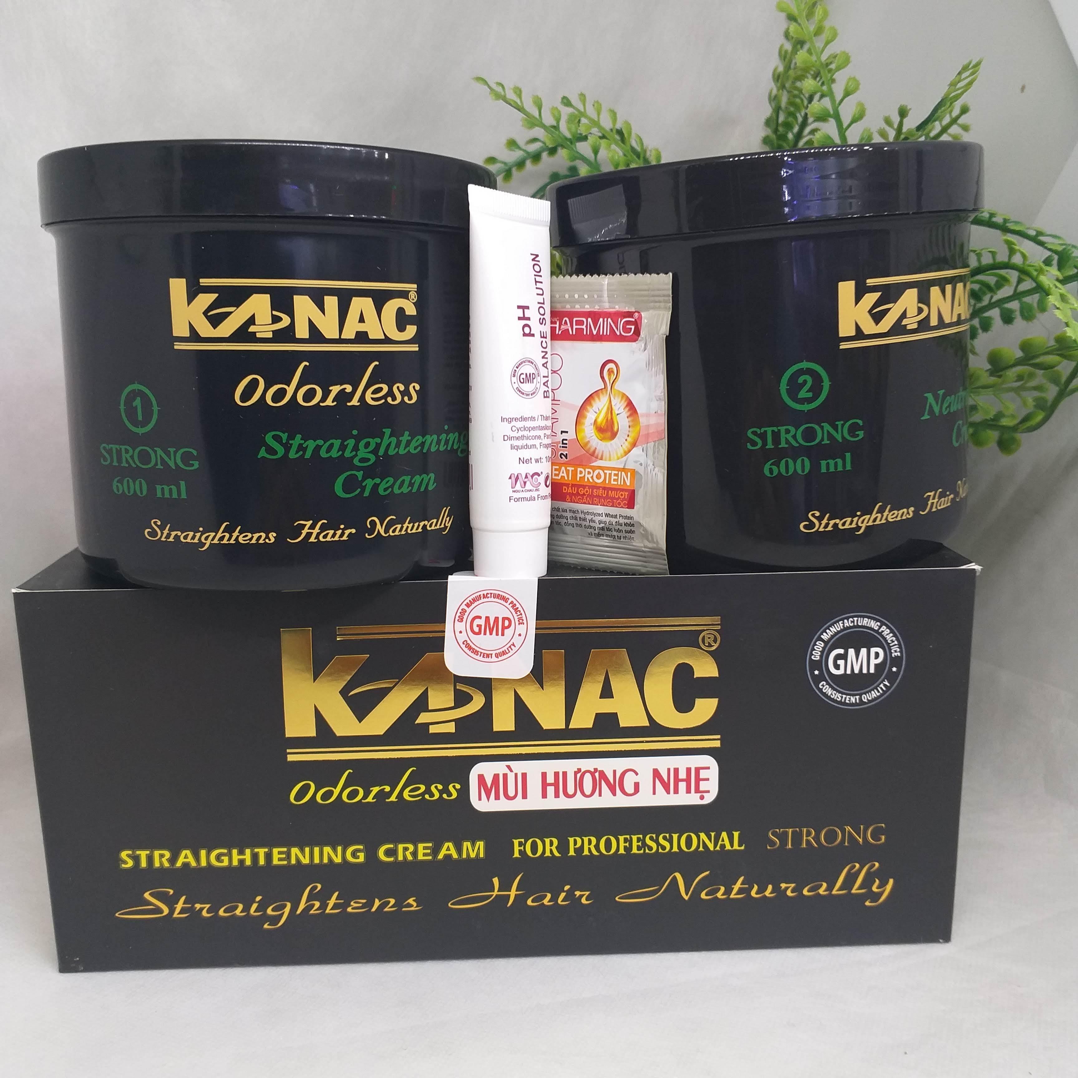Kem duỗi tóc Kanac đen hộp 600ml x 2 giá rẻ