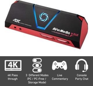Card Ghi Hình và Livestream Avermedia 2 Plus GC513 Cho Gamer Độ Phân Giải Ultra HD 4K thumbnail