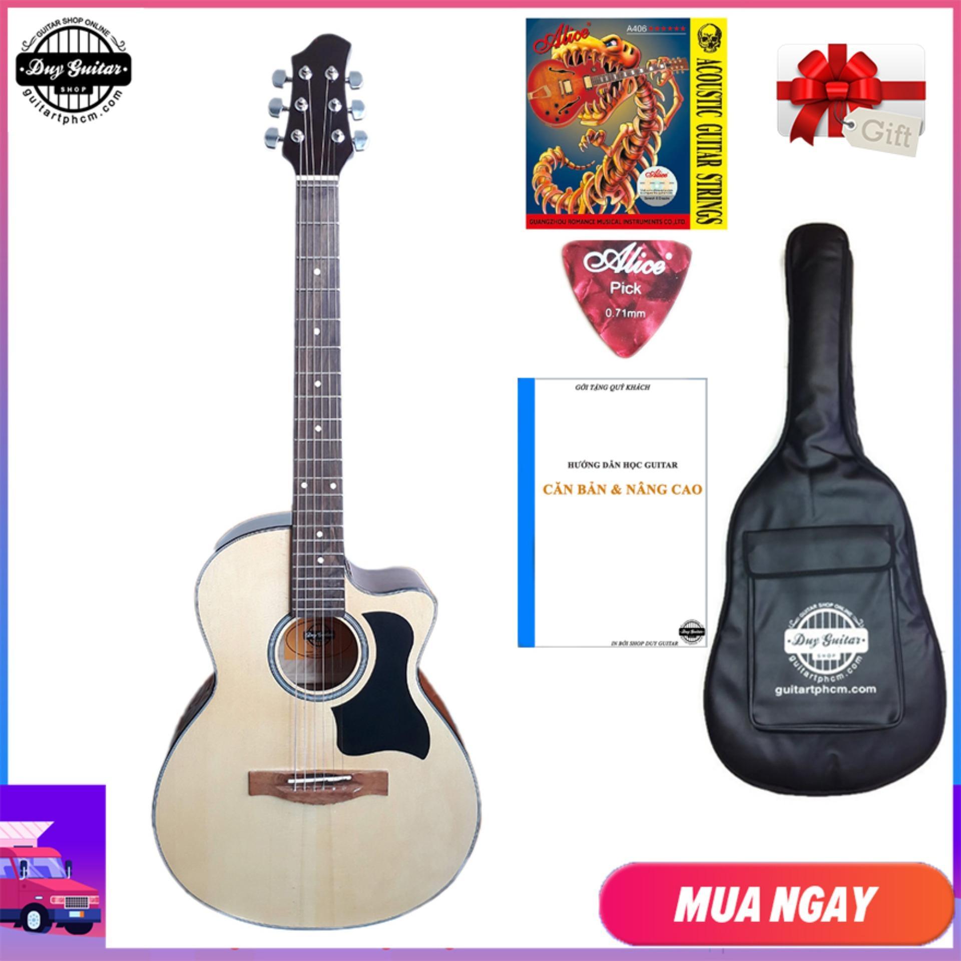 Giá Cực Tốt Khi Mua [ Tặng Giáo Trình ] Đàn Guitar Acoustic DVE70 + Bao Da, Capo, Phụ Kiện Duy Guitar - Shop đàn Ghita Giá Rẻ - Đàn Ghi-ta Dành Cho Người Mới Tập - Shop đàn Ghi Ta đệm Hát Modern