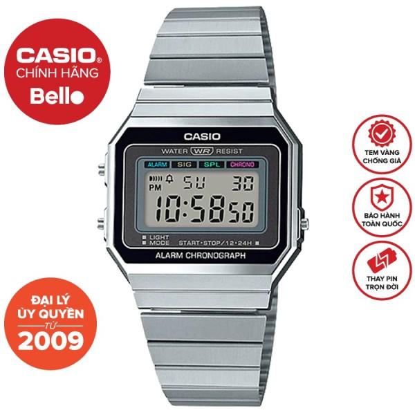 Nơi bán Đồng hồ Casio Nam A700W-1A bảo hành chính hãng 1 năm - Pin trọn đời