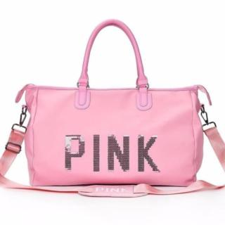 Túi du lịch pink size đại thumbnail