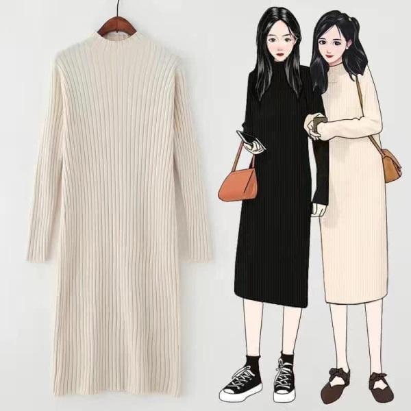 [Sale] Váy Len Suông Dáng Dài Quảng Châu - Mềm Mại Dày Dặn Không Bai - Dáng Trẻ Trung
