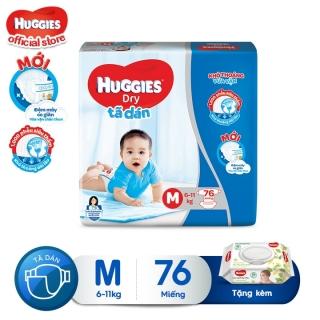 [Tặng khăn ướt không mùi] Tã dán HUGGIES DRY SUPER JUMBO M76 - L68 - XL62 - XXL56 thumbnail