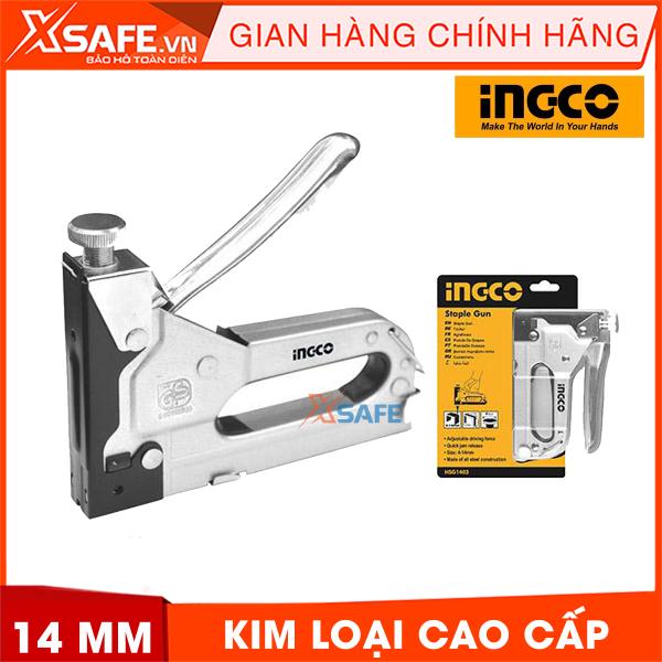 Kềm bấm ghim chữ U 4-14MM INGCO HSG1403 được làm từ kim loại cao cấp. Kềm bấm ghim Ingco thiết kế nhỏ họn dễ dàng bấm được 3 loại đinh - Sản phẩm chính hãng XSAFE