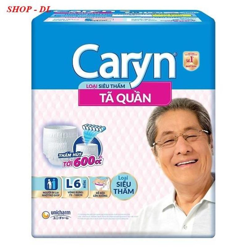 Tã quần siêu thấm Caryn L6 (vòng bụng 75 - 100 cm) tốt nhất