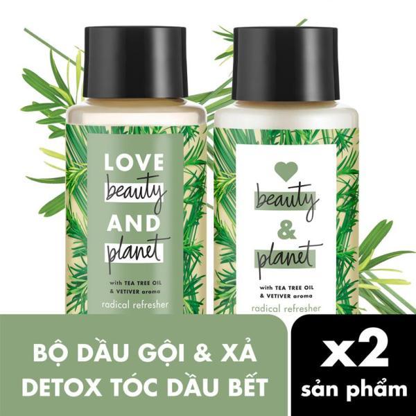 Bộ Sản Phẩm Dầu Gội Và Dầu Xả Love Beauty And Planet Detox Tóc 400ml x 2