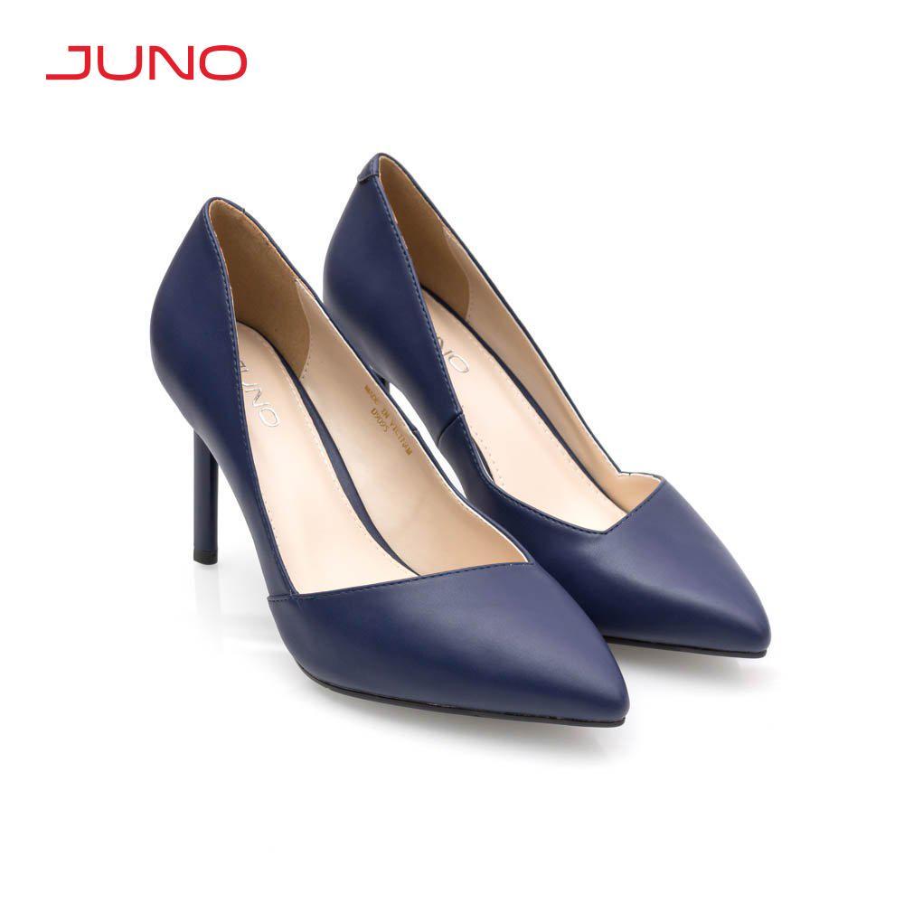 Giày cao gót 9cm mũi nhọn chất liệu mềm mại Juno CG09095