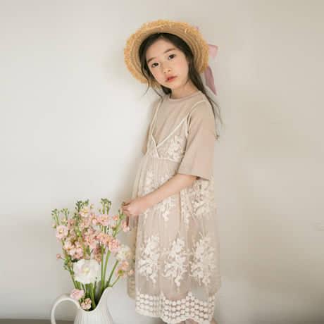 Giá bán B19 - Set váy ren cao cấp cho bé 45-55kg