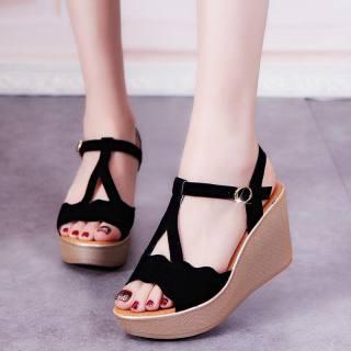 Giày sandal cao gót đế xuồng 9p chéo chữ Y LZ-067 thumbnail