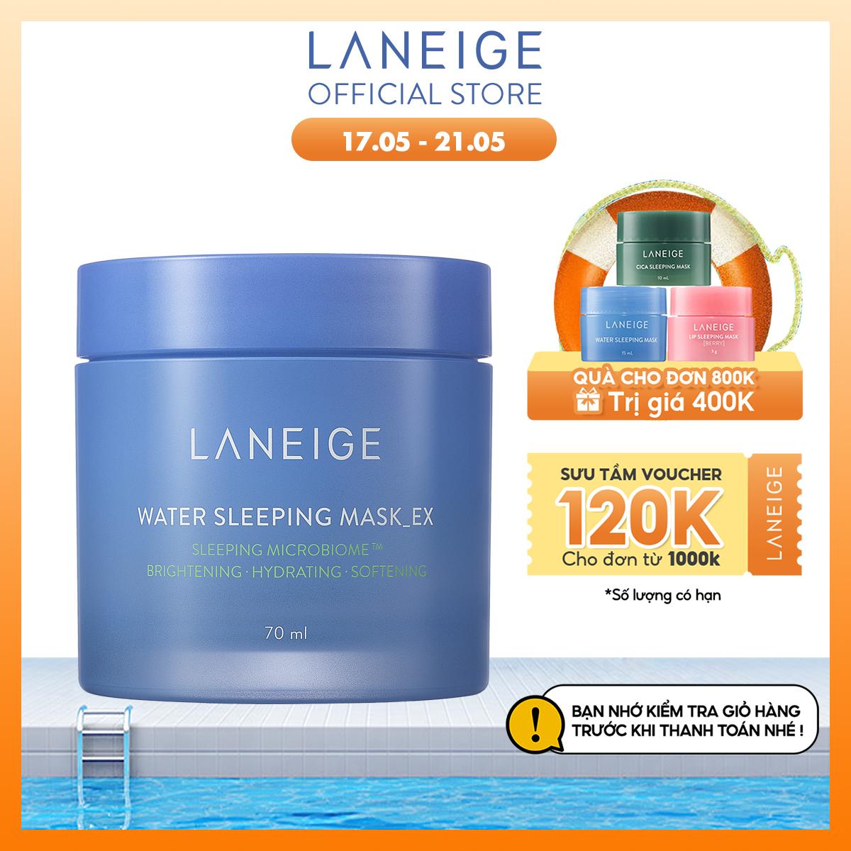 Mặt nạ ngủ dưỡng ẩm và tăng khả năng tự-vệ của da phiên bản cải tiến LANEIGE Water Sleeping Mask 70ml