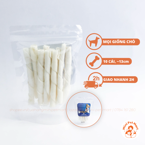 Bánh xương snack, bánh thưởng cho chó TÀI HƯNG THỊNH 768 (10 cái)