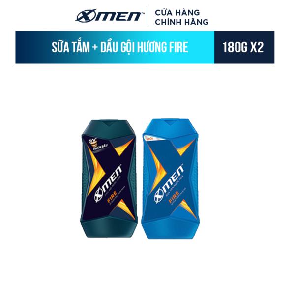 Sữa Tắm X-Men Nước hoa Fire 180G + Dầu Gội X-Men Nước hoa Fire 180G