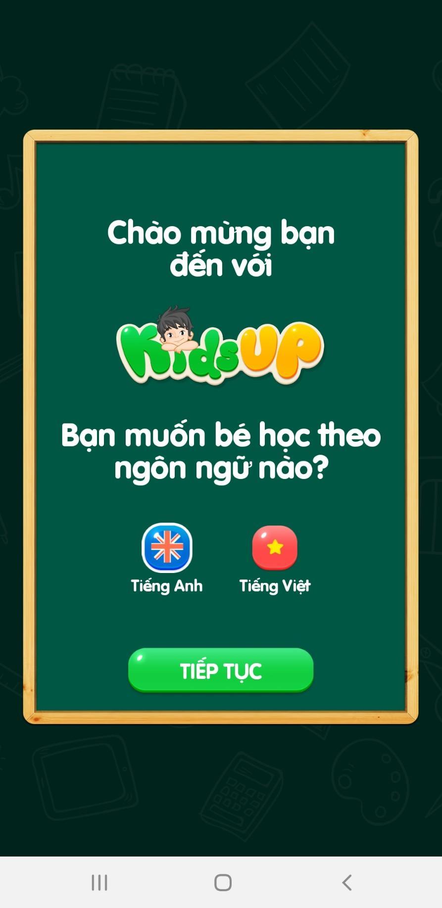 Mua Thẻ học tiếng online Anh KIDSUP cho bé