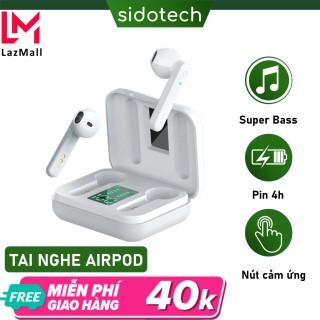 Tai nghe bluetooth True Wireless SIDOTECH Air1-S TWS chính hãng phiên bản tai nghe không dây mini in ear pin trâu chống ồn có mic màn LED gaming thể thao nâng cấp của tai nghe ko dây i12 cho điện thoại iphone samsung oppo xiaomi - Hàng Chính Hãng thumbnail
