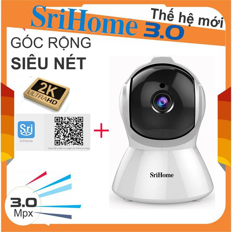 [Bảo hành 5 Năm,FULL BOX] Camera WiFi Không Dây SriHome SH025 xoay 360 độ , Siêu Nét Độ Phân GIẢI Full HD 1920 X 1080P , ghi âm , ghi hình , đàm thoại 2 chiều , cảnh báo chuyển động , hình ảnh sống động