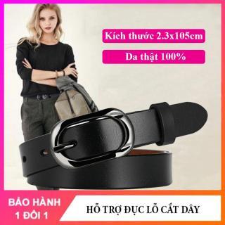 Thắt lưng nữ dây nịt dây lưng nữ cao cấp bản nhỏ 2.3cm chất liệu da thật, dễ phối đồ với các loại quần jean, váy, đầm NT168 thumbnail