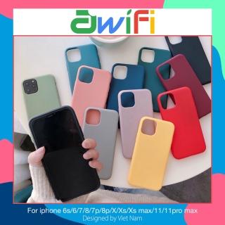 Ốp lưng iphone - Ốp trơn dẻo nhiều màu dành cho iphone 6 đến 12promax - f01Awifi thumbnail