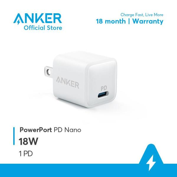 Sạc ANKER PowerPort PD Nano 18W 1 cổng USB-C PD - A2716