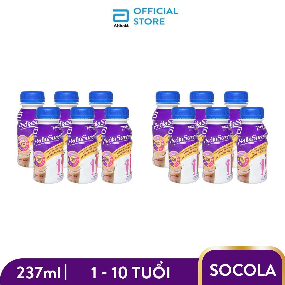 Bộ 12 chai sữa nước Pediasure hương Chocolate 237ml