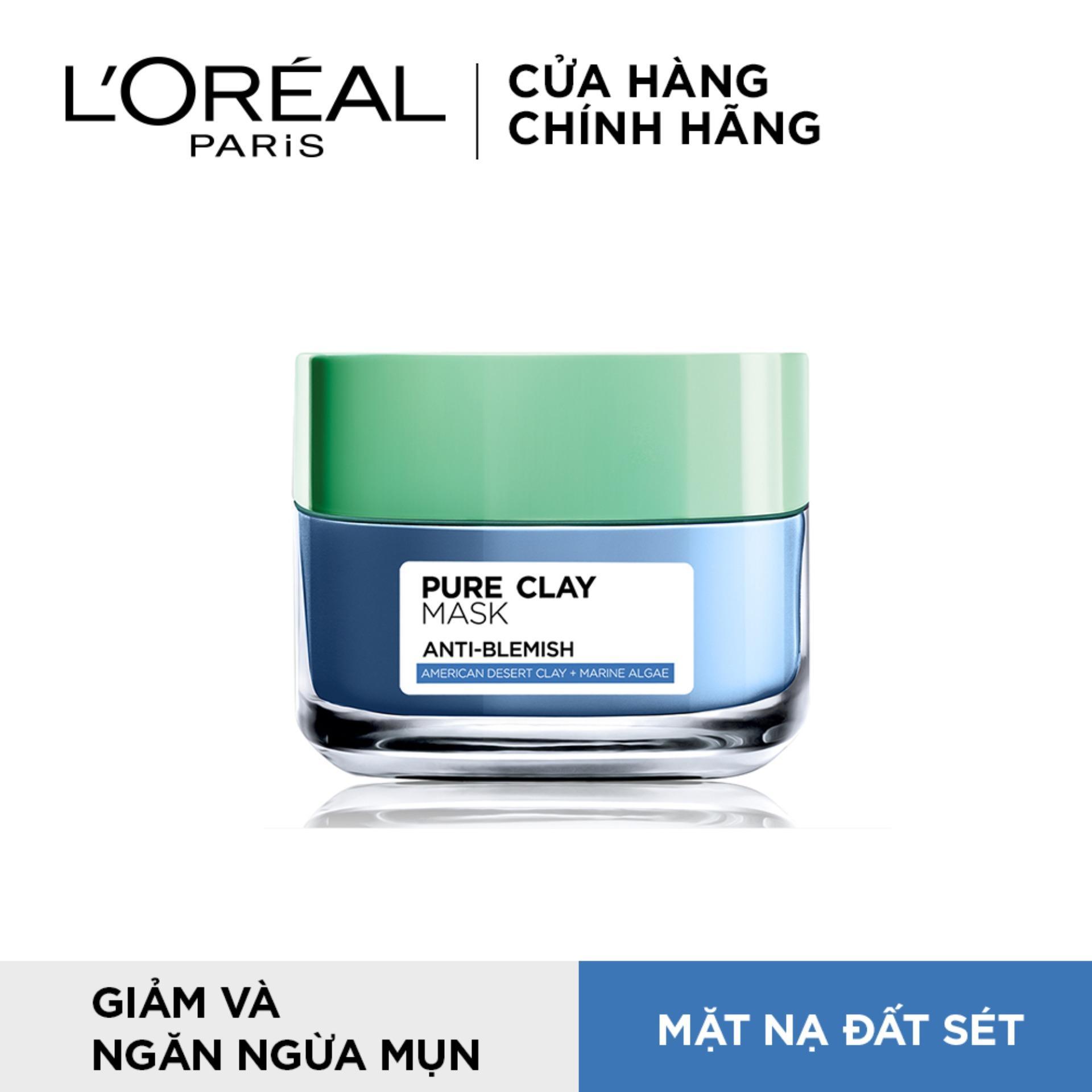 Mặt nạ đất sét ngăn ngừa và giảm mụn LOreal Paris Pure Clay Mask Anti-Blemish 50g nhập khẩu