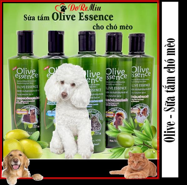 Doremiu Olive chó mèo 450ml - Sữa tắm cho chó loại Làm đẹp và chống rụng lông