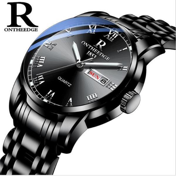 [Fullbox tặng pin + cắt dây] Đồng hồ nam Ontheedge RZY031 dây kim loại (Full Đen) bán chạy