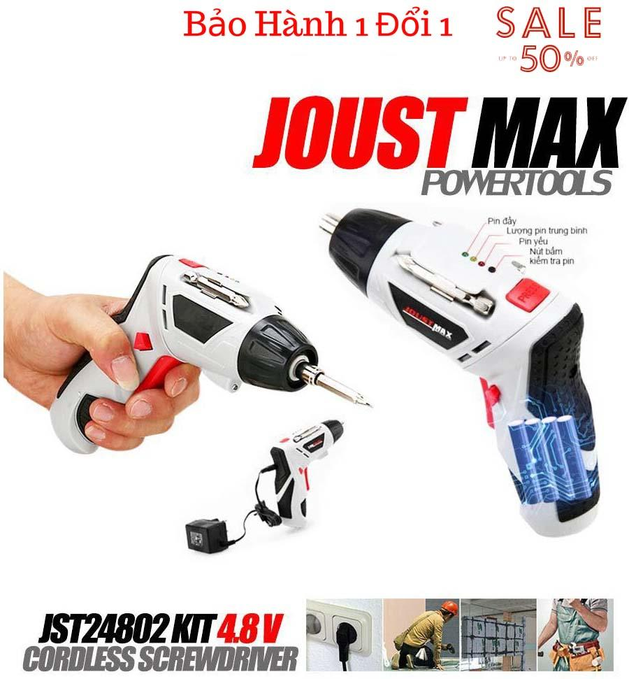 Máy Khoan Pin Nhật Bãi 4.8V Joust Max 45 Chi Tiết, Thiết Kế Nhỏ Gọn, Dung Lượng Pin 1300Mah , Chất Lượng Cao , Giảm Giá 50% - Bh 1 Đổi 1 Trong 6T