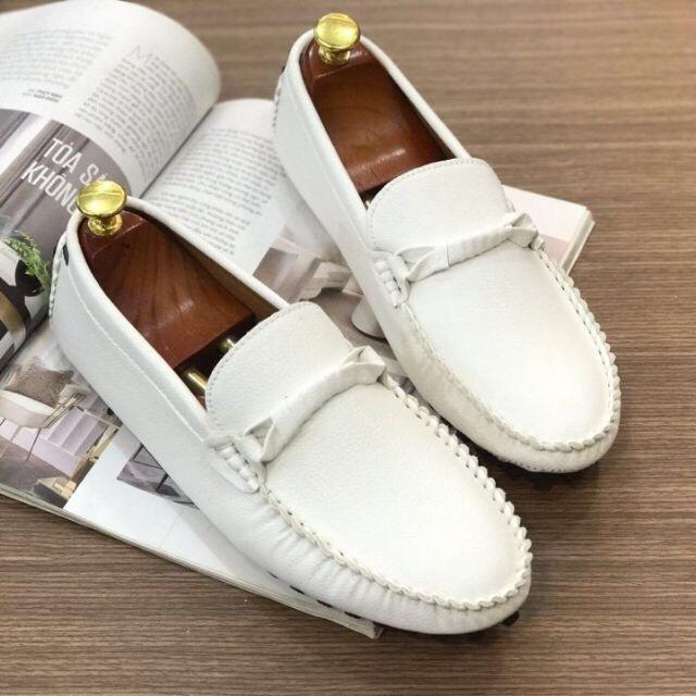 Giày mọi nam (giày lười) đế âm kiểu mới 2 màu trắng và đen giá rẻ đẹp thời trang