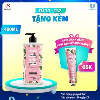 Sữa Dưỡng Thể Sáng Da Love Beauty And Planet Delicious Glow 400ml thumbnail