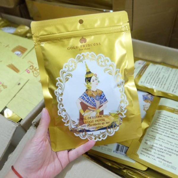 Miếng dán thải độc bàn chân Gold Princess Thái Lan 10 miếng