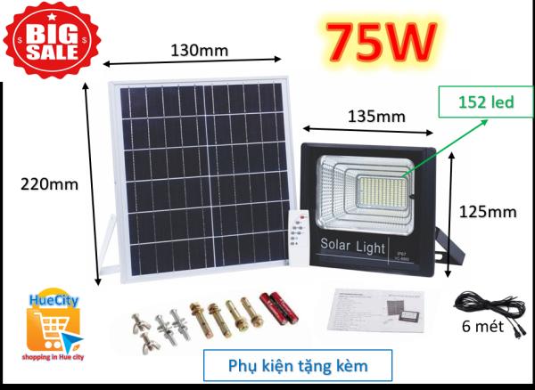 Bảng giá (Giá sốc) Đèn led năng lượng mặt trời Solar Light 75W với 152 chip led