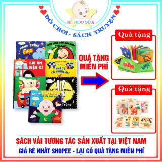 Sách vải cho bé - Sách vải tương tác - sách vải an toàn sản xuất tại Việt Nam - Tặng kèm sách vải khi mua hàng thumbnail