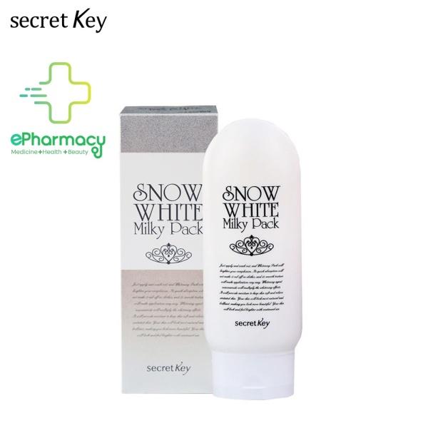 Kem Ủ Trắng SECRET KEY SNOW WHITE Milky Pack dưỡng da trắng mịn 200g
