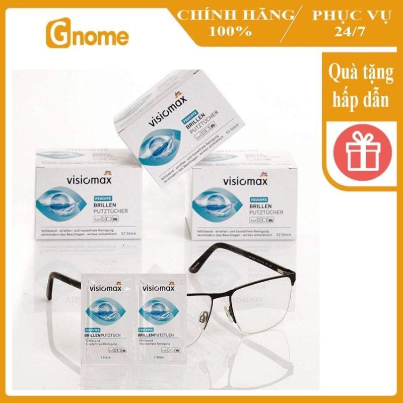 Giá bán [Hàng Nhập Đức] Giấy lau kính Visiomax 52 miếng lau màn hình điện thoại, lau ống kính kháng khuẩn sạch triệt để chống tĩnh điện ngăn ngừa mờ sương