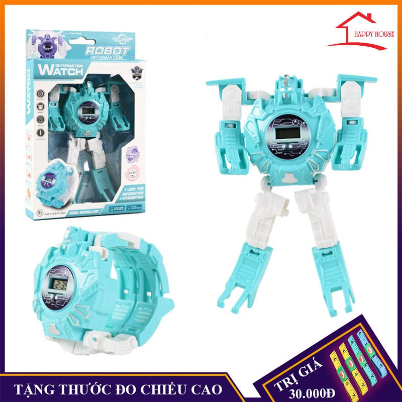 Nơi bán Đồ chơi trẻ em, đồng hồ lắp ráp biến hình robot sáng tạo (Tặng thước đo chiều cao khi mua hàng)