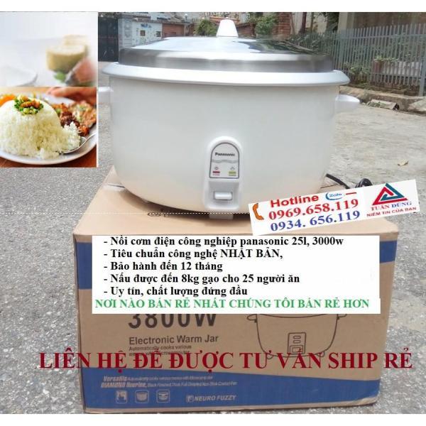 Bảng giá Nồi cơm điện, nồi cơm điện công nghiệp panasonic 25l, công suất 3000w nấu được đến 6,5kg gạo cho 20-25 người ăn, noi com dien chất lượng, uy tín, bảo hành toàn quốc Điện máy Pico