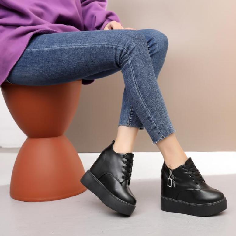 Giày bánh mì da nữ đế độn cá tính, thời trang Hàn Quốc BM087 giá rẻ