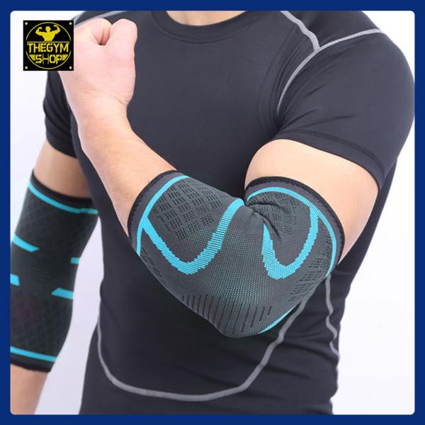 (1 Đôi, 1 Cặp) Bó khuỷu tay, băng khuỷu tay, bó bảo vệ khuỷu tay, cùi chỏ giảm chấn thương Aolikes (The Gym Shop phân phối) hỗ trợ tập thể thao, thể hình, gym