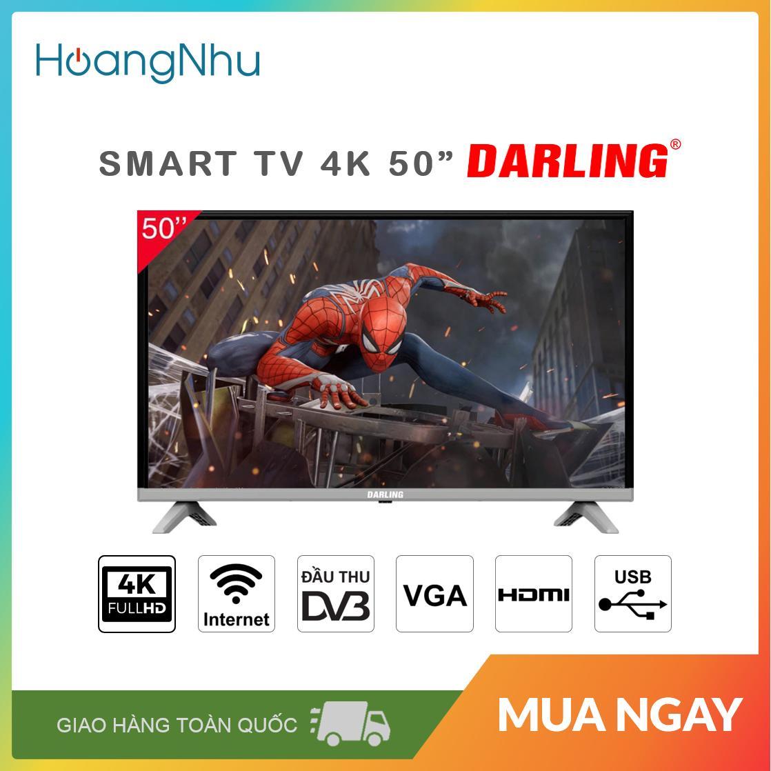 Bảng giá Smart TV 4K Darling 50 inch 50UH960S (Màn hình UHD 4K, Android 7.0, Wifi, Truyền hình KTS) - Bảo hành toàn quốc 2 năm