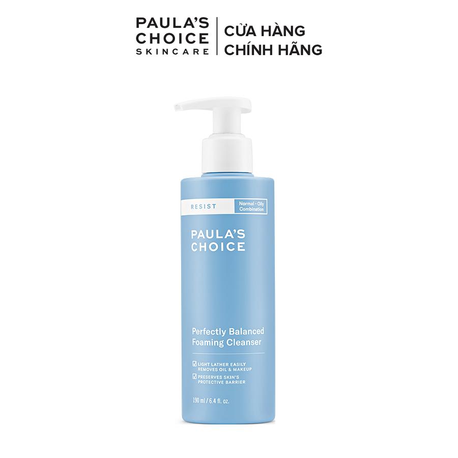 Sữa rửa mặt cân bằng da hoàn hảo Paula's Choice RESIST Perfectly Balanced Foaming Cleanser