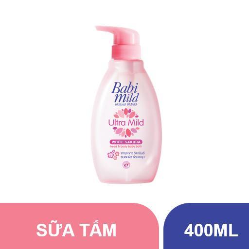 Sữa tắm trẻ em Babi Mild - White Sakura chai...