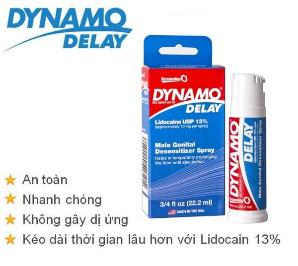 [ Xịt Dynamo ] Dynamo Delay 22.2ml - Xịt Kéo dài thời gian quan hệ cao cấp