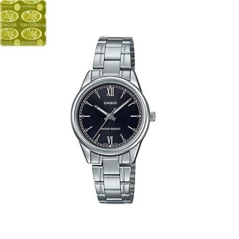 Đồng hồ nữ dây thép không gỉ Casio Anh Khuê LTP-V005D-1B2UDF