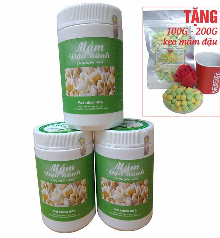 [500G] Bột Mầm Đậu Nành (Tăng vòng 1 cấp tốc) - Tặng 100G viên kẹo mầm đậu nành. cao cấp