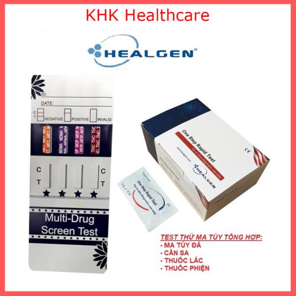 Que test thử ma tuy tổng hợp 4 chân Healgen (ma tuy đá, can sa, tài ma, thuoc lac) kèm hướng dẫn sử dụng
